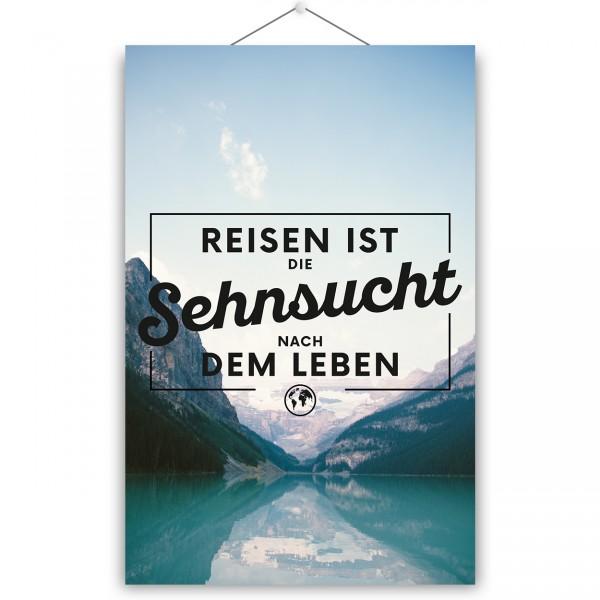 """Poster """"REISEN IST SEHNSUCHT"""""""
