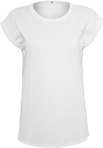 Ladies Extended Shoulder Tee weiß
