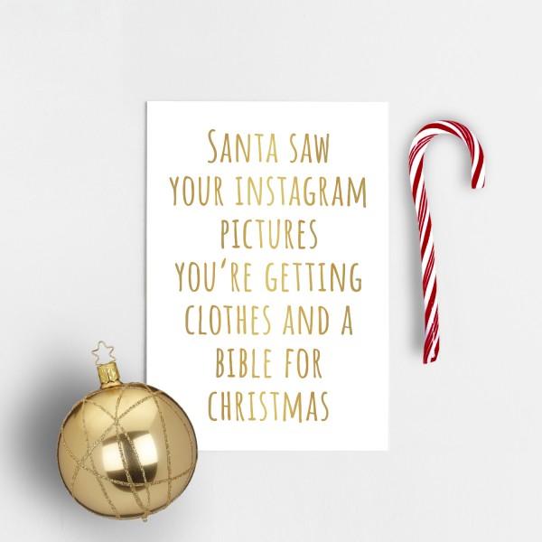 Postkarte Weihnachten INSTAGRAM