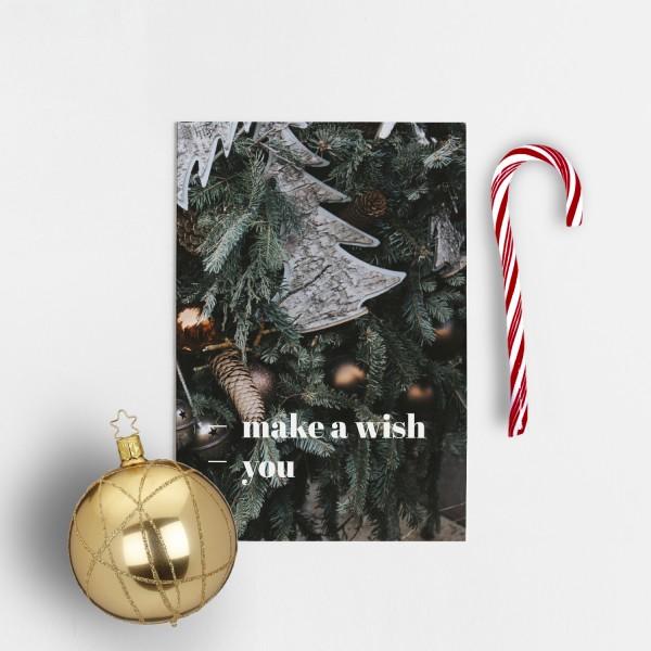Postkarte Weihnachten MAKE A WISH