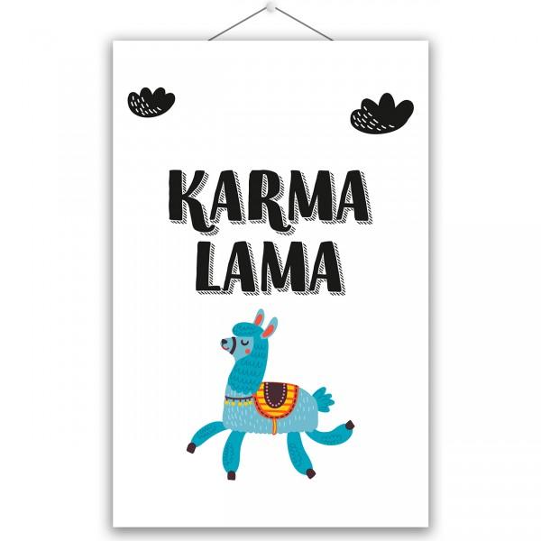 """Poster """"KARMA LAMA"""""""