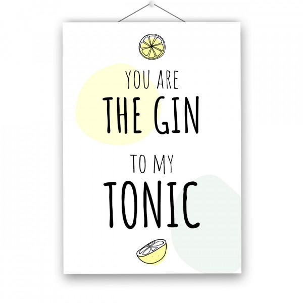 "Poster ""GIN TONIC"""