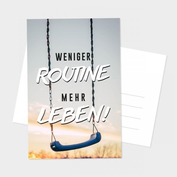 "Postkarte ""MEHR LEBEN"""
