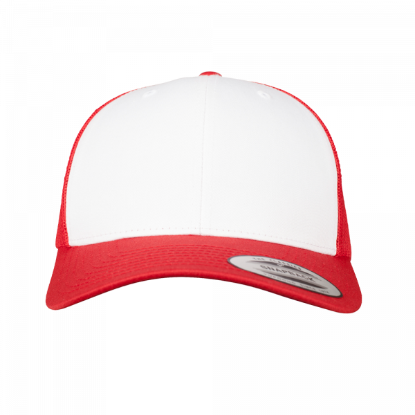 Flexfit Retro Trucker Colored Front 6606CF - Red-White-Red