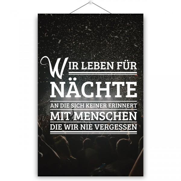 "Poster ""NÄCHTE"""