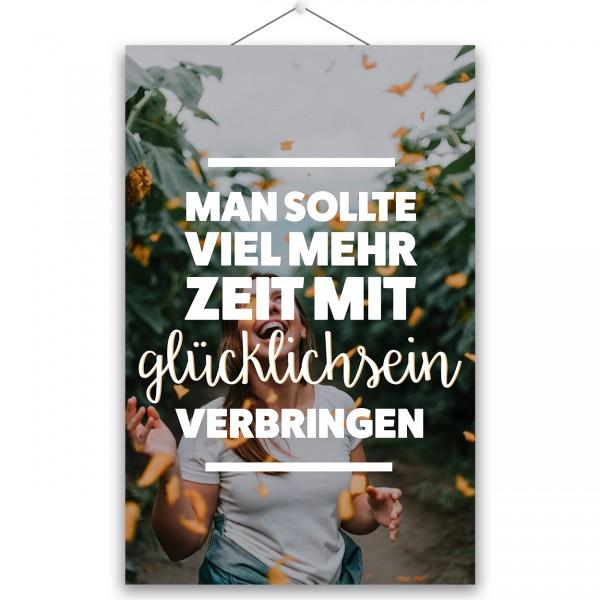 """Poster """"VIEL MEHR ZEIT"""""""