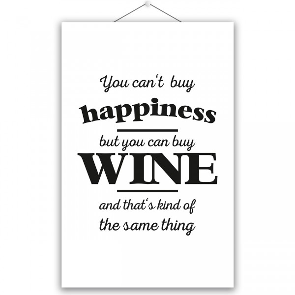 "Poster ""HAPPINESS & WINE"""