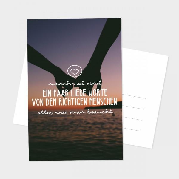 "Postkarte ""LIEBE WORTE"""