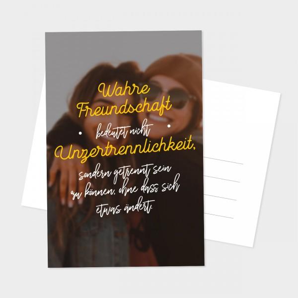 """Postkarte """"UNZERTRENNLICHKEIT"""""""