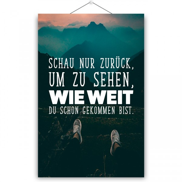 """Poster """"WIE WEIT"""""""