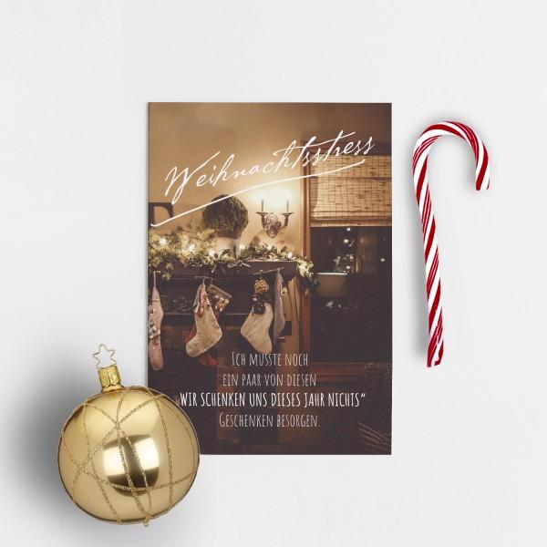 Postkarte Weihnachten WEIHNACHTSSTRESS