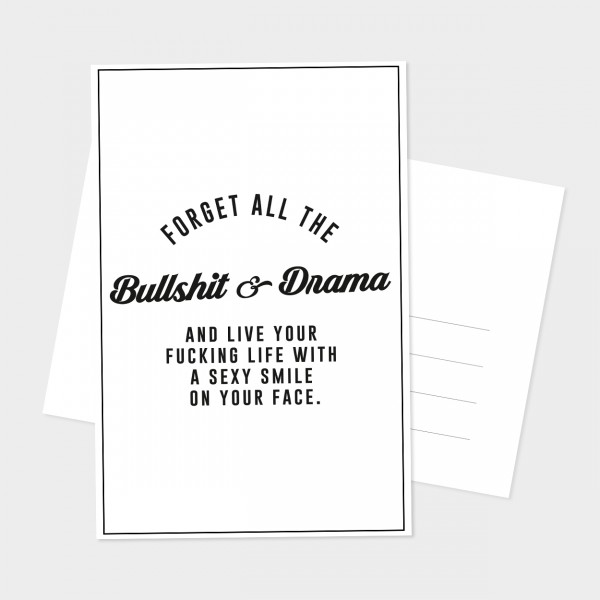 "Postkarte ""BULLSHIT & DRAMA"""