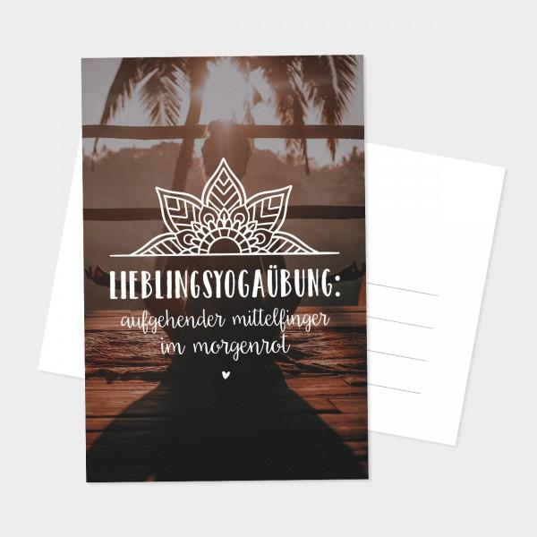 "Postkarte ""LIEBLINGSYOGAÜBUNG"""