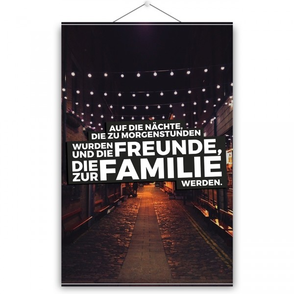 """Poster """"AUF DIE NÄCHTE"""""""