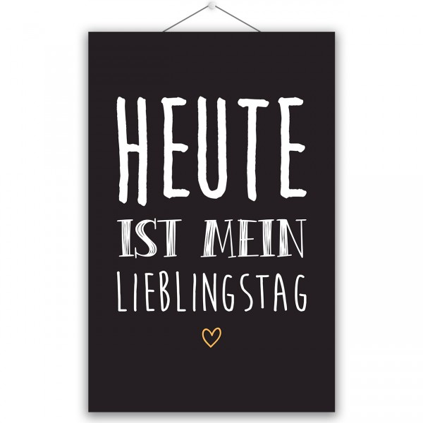 "Poster ""MEIN LIEBLINGSTAG"""