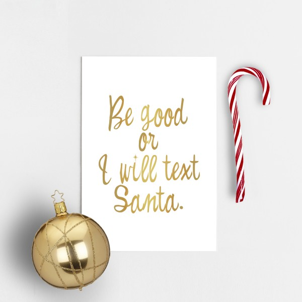 Postkarte Weihnachten BE GOOD