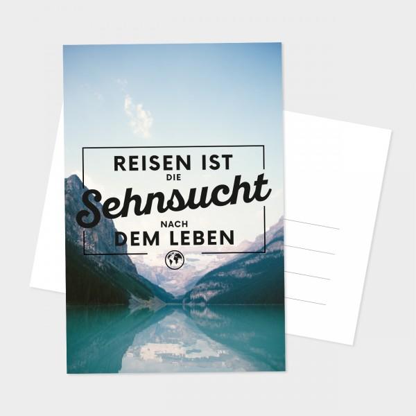 "Postkarte ""SEHNSUCHT REISEN"""