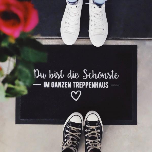 """Fußmatte """"DU BIST DIE SCHÖNSTE"""""""