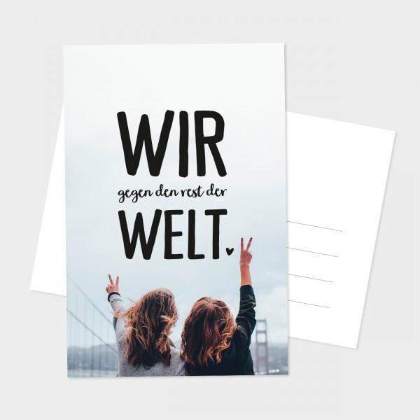 """Postkarte """"WIR GEGEN DEN REST"""""""