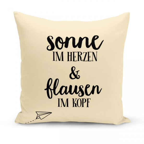 "Kissenbezug ""SONNE & FLAUSEN"""
