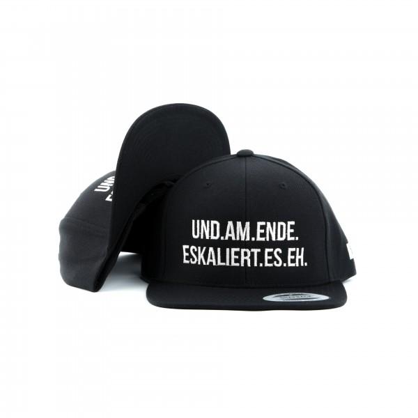 "Snapback ""ESKALIERT.EH."" schwarz"