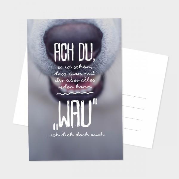 """Postkarte """"WAU"""""""