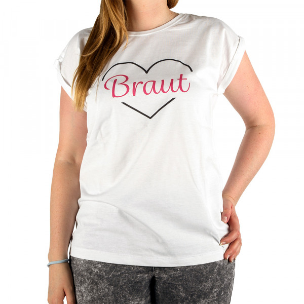 "Shirt ""Braut"" weiß"