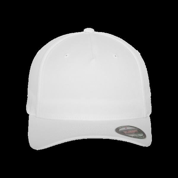 Flexfit 5 Panel Baseball Cap 6560 S/M – white