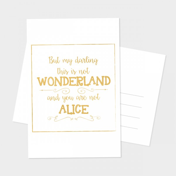 "Goldpostkarte ""ALICE"""