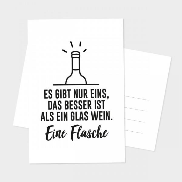 """Postkarte """"EINE FLASCHE"""""""