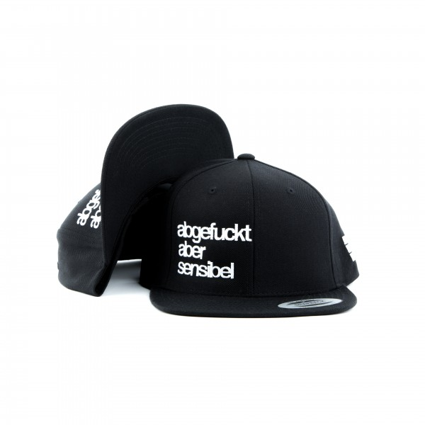 Snapback ABGEFUCKT ABER SENSIBEL All Black