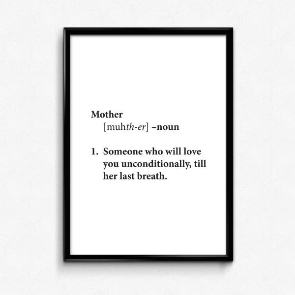 Muttertag Motiv TILL HER LAST BREATH