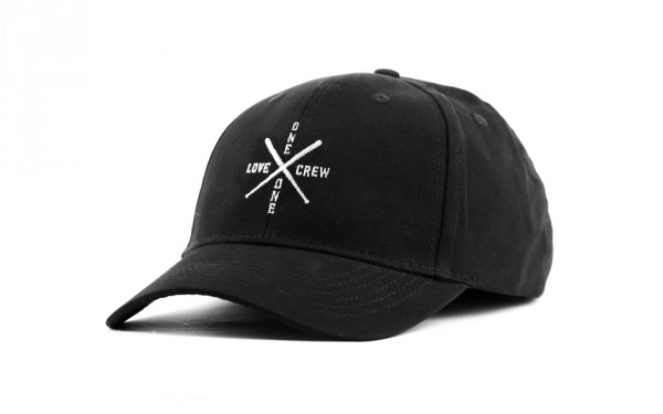 CROSS CREW CURVED CAP BLACK