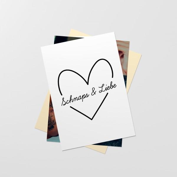 "Postkarten-Set ""SCHNAPS&LIEBE"""