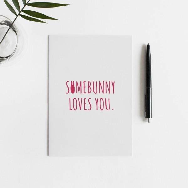 SOMEBUNNY Postkarte