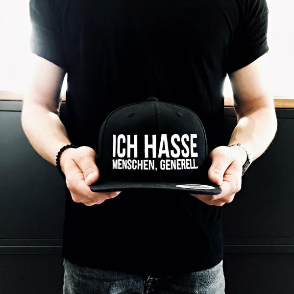 """Snapback """"ICH HASSE MENSCHEN"""" schwarz"""