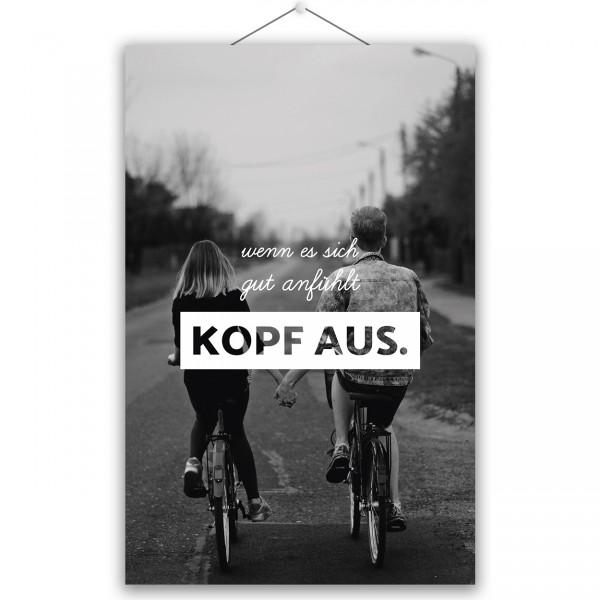 """Poster """"KOPF AUS"""""""