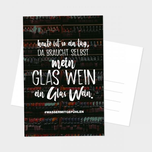 """Postkarte """"GLAS WEIN"""""""