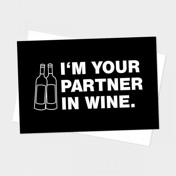 "Postkarte ""PARTNER IN WINE"""