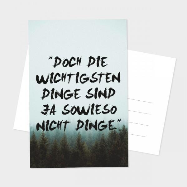 """Postkarte """"NICHT DINGE"""""""