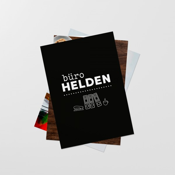 "Postkarten-Set ""BÜROHELDEN"""