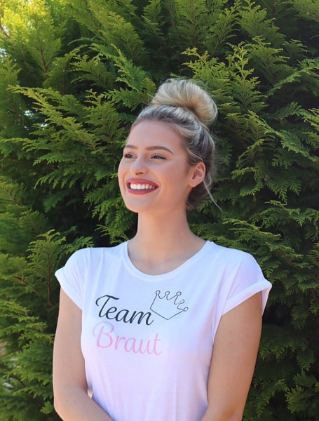 "Shirt ""Team Braut"" weiß"