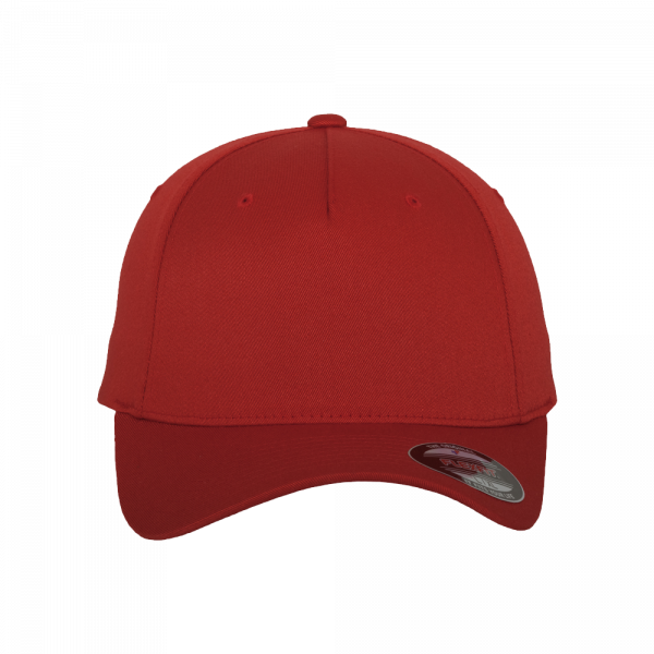 Flexfit 5 Panel Baseball Cap 6560 S/M – red