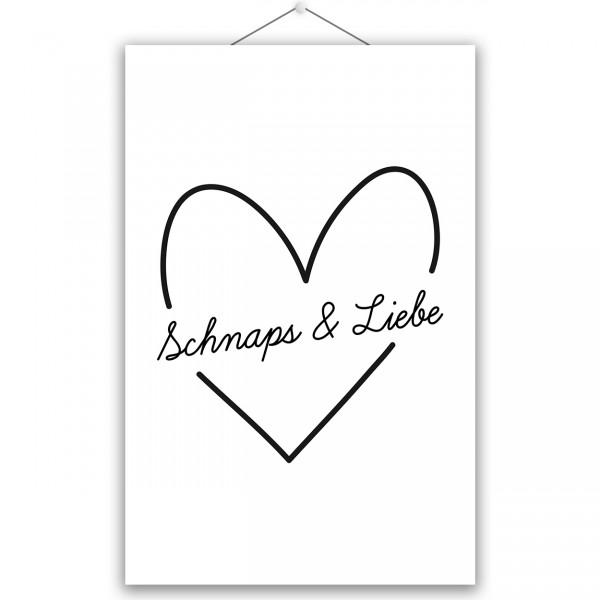 """Poster """"SCHNAPS & LIEBE"""""""