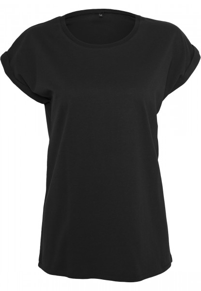 Ladies Extended Shoulder Tee schwarz