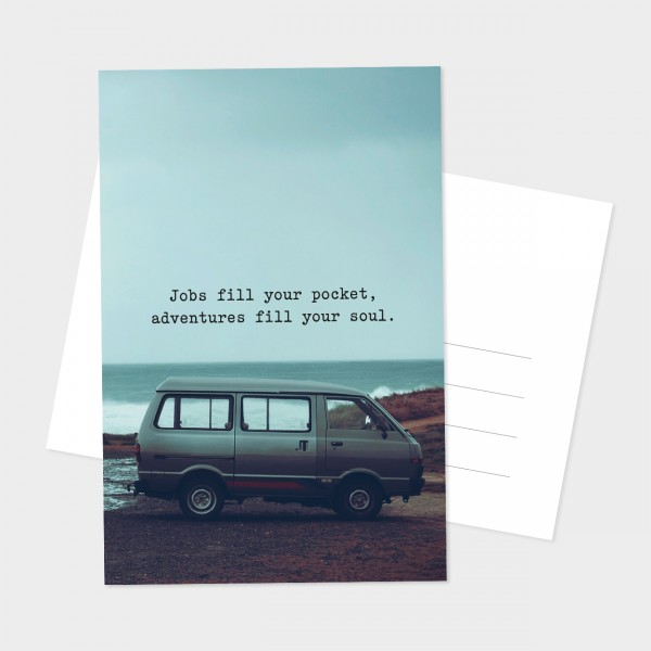 "Postkarte ""FILL YOUR SOUL"""