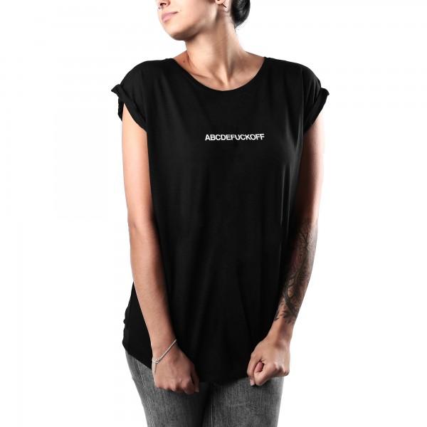 ABC Shirt Frauen Schwarz