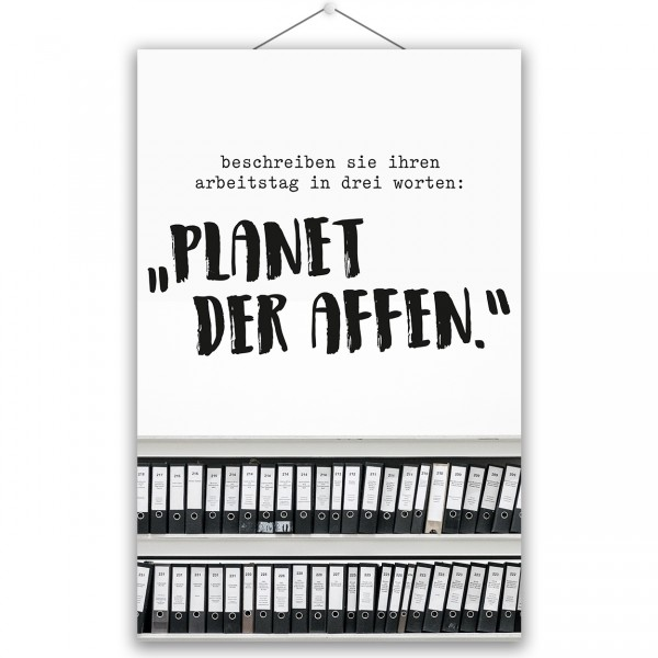 "Poster ""PLANET DER AFFEN"""