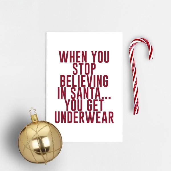 Postkarte Weihnachten UNDERWEAR