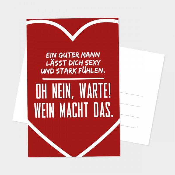 """Postkarte """"WEIN MACHT DAS"""""""